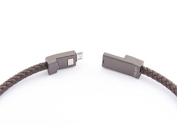 NILS 2.0 Solo: Fast Wearable Micro-USB Charging Cable (Chocolate/ M)