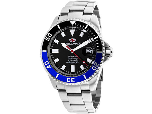 Seapro Men's Scuba 200 Black Dial Watch - SP4321