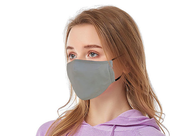 Reusable Ear Loop Face Mask 4-Pack Gray - Product Image