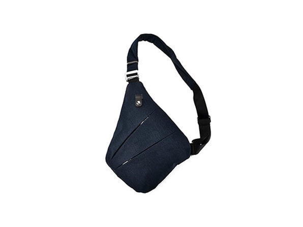 Waterproof Triangle Side Crossbody Bag (Navy)