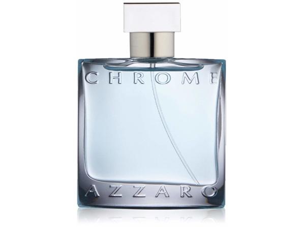 A bottle of Azzaro Chrome men's perfume