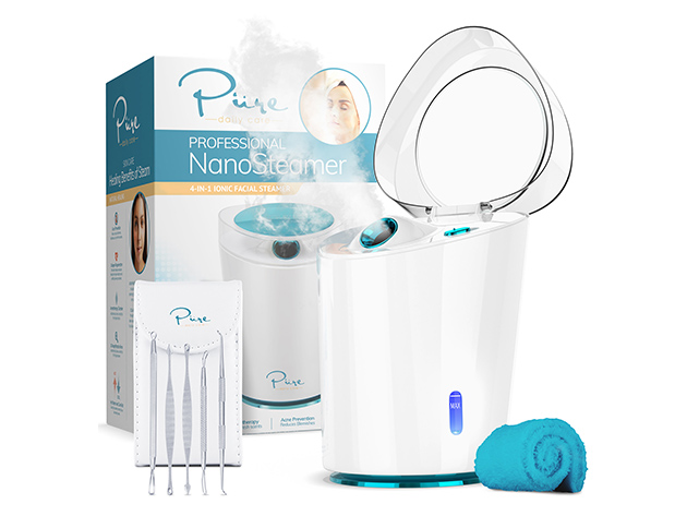 NanoSteamer PRO 4-in-1 Nano Ionic Facial Steamer, on sale for $50.99 when you use coupon code MERRY15