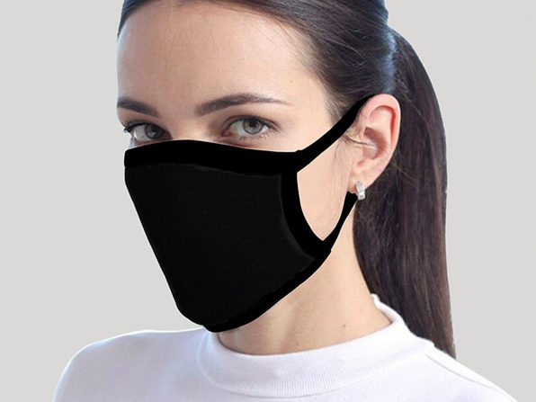Reusable Face Masks: 8-Pack (Black)