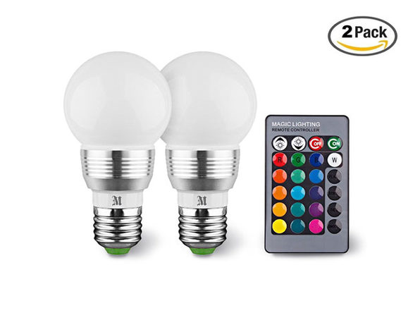 Massimo Color Changing Light Bulb: 2-Pack
