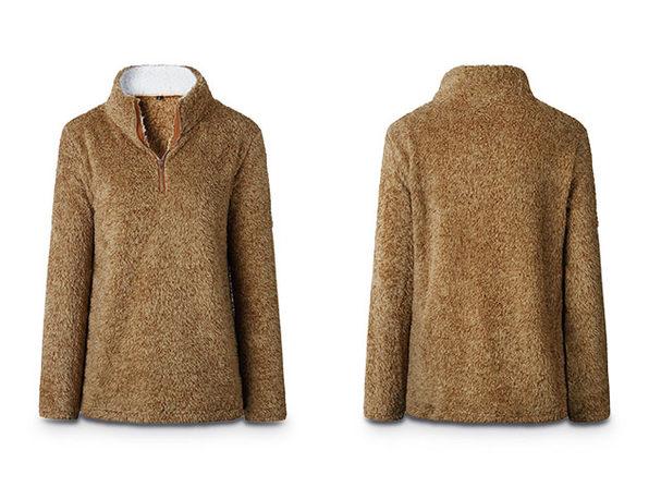 Half-Zip Brown Fleece Pullover (Large)