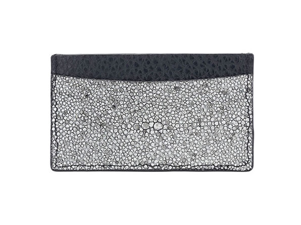 Andre Giroud Exotic Stingray Card Holder - Silver - Product Image