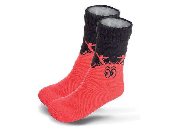 KIDS Halloween Novelty Slipper Socks with Non-Slip Grip - Peach Monster - Product Image