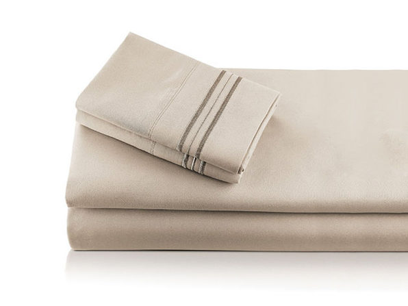 Bali Bamboo Luxury 6-Piece Beige Sheet Set