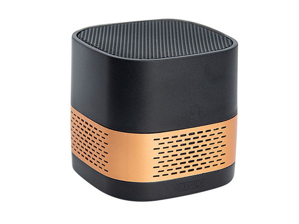 LUFT Cube Portable Filterless Air Purifier (Black/Gold)