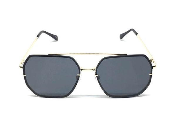 The Ed Sunglasses in Black & Silver