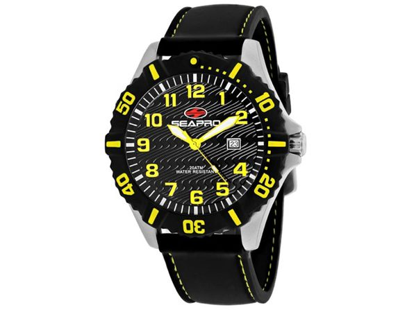 Seapro Men's Trooper Black Dial Watch SP1512