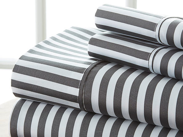 4 piece Striped Sheet Set-Queen - Product Image