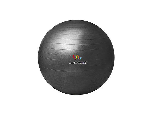 Wacces Anti-Burst Yoga Ball with Pump (Black)
