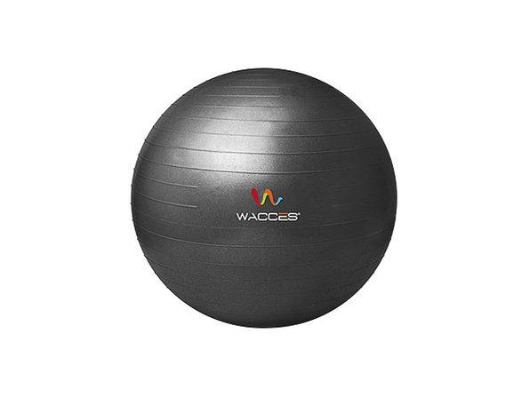 Wacces Anti-Burst Yoga Ball with Pump (Black)
