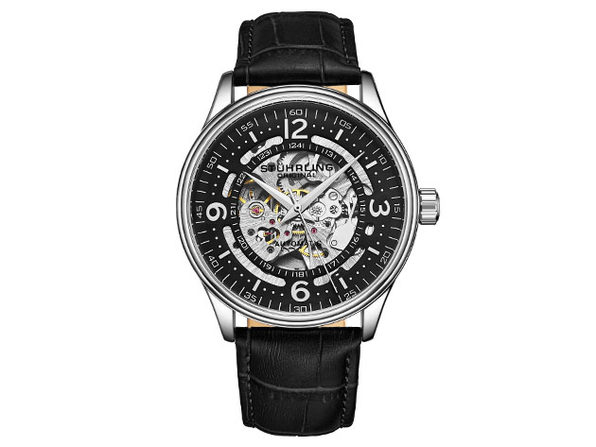 Denmark Automatic 42mm Skeleton Men's Watch (Black)