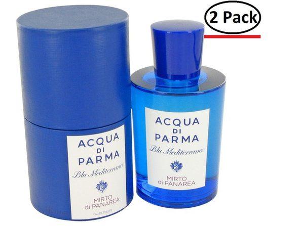 Blu Mediterraneo Mirto Di Panarea by Acqua Di Parma Eau De Toilette Spray (Unisex) 5 oz for Women (Package of 2)
