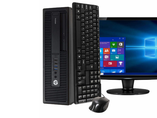 "HP ProDesk 600 G2 Desktop PC, 3.2GHz Intel i5 Quad Core Gen 6, 8GB RAM, 1TB SATA HD, Windows 10 Home 64 bit, BRAND NEW 24"" Screen (Renewed)"