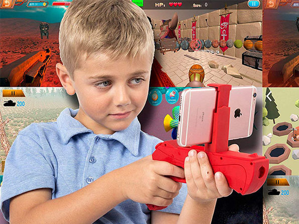 Augmented Reality Portable Game Gun for Smartphones