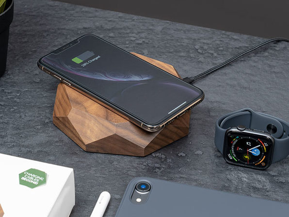 Wooden Qi Wireless Charger (Walnut Wood)
