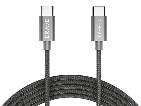 Crave USB-C to USB-C Cable (Slate)