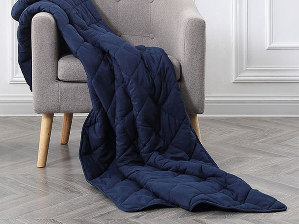 BlanQuil™ Basic Weighted Blanket (Navy/15 Lb)