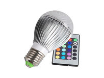 Color Changing LED Globe Bulb with Remote - Product Image