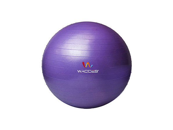Wacces Anti-Burst Yoga Ball with Pump (Purple)