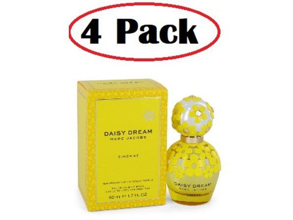 4 Pack of Daisy Dream Sunshine by Marc Jacobs Eau De Toilette Spray 1.7 oz - Product Image