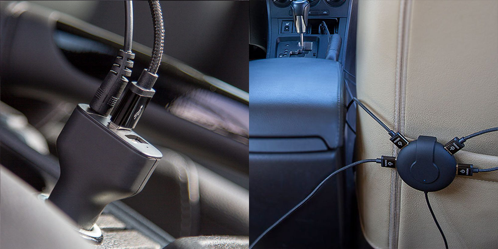 Charge all of the devices in your car at once. Great for families!