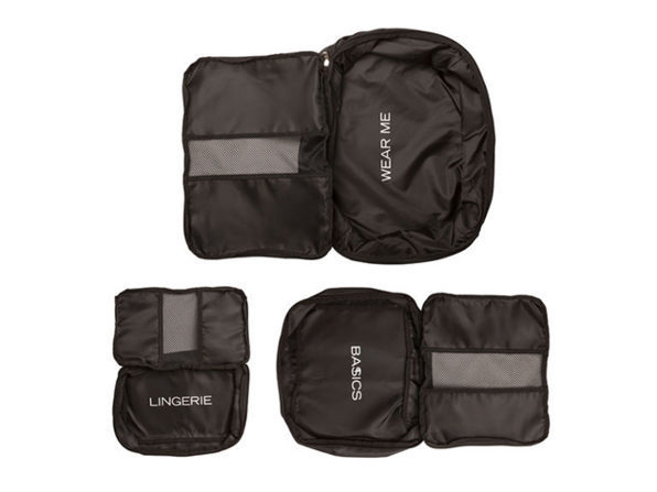 Joyus Exclusive Packing Cubes in Black: Set of 3