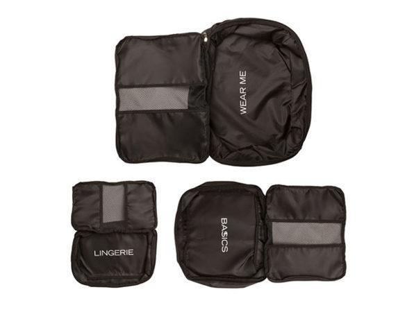 Joyus Exclusive Packing Cubes in Black: Set of 3