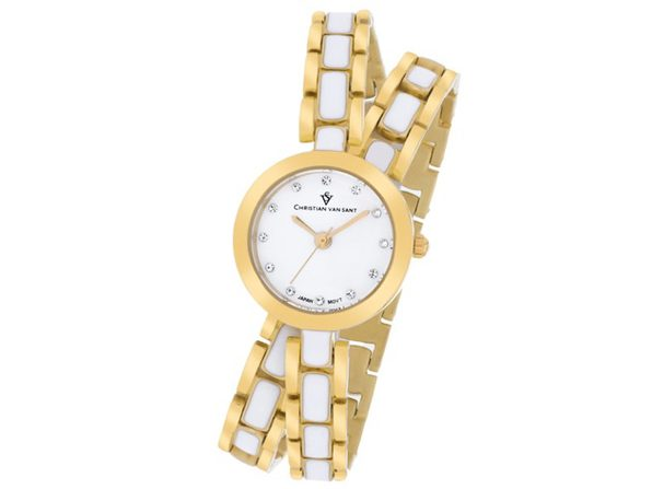 Christian Van Sant Women's Spiral White Dial Watch - CV5612