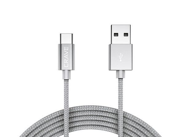 Crave USB-A to USB-C Cable (Silver)