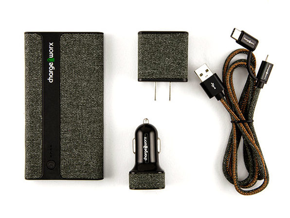 Sleek Canvas Complete Charging Kit + Micro USB & USB-C Cable (Green)