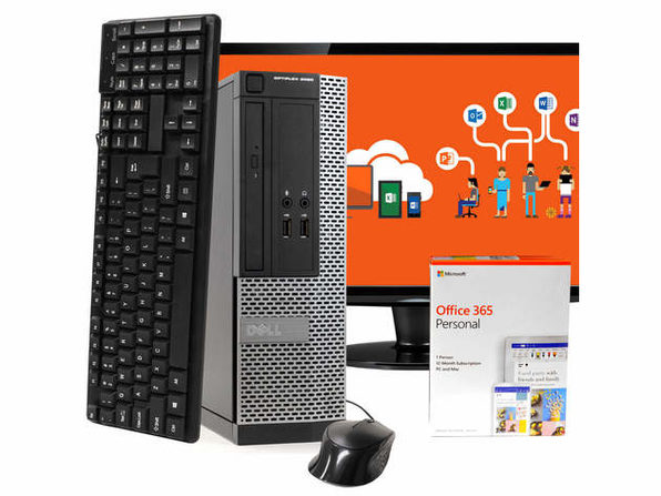 "Dell OptiPlex 3020 Desktop PC, Intel i5-4570 3.2GHz, 8GB RAM New 1TB SSD, Microsoft Office 365 Personal, Windows 10 Pro, 19"" LCD, New 16GB Flash Drive, Keyboard, Mouse, WiFi, Bluetooth (Renewed)"