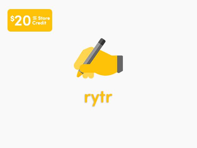 Stack Social Deal for Rytr AI Writing Tool: Lifetime Subscription + $20 Store Credit