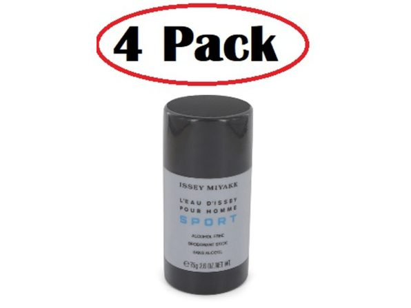 4 Pack of L'eau D'Issey Pour Homme Sport by Issey Miyake Alcohol Free Deodorant Stick 2.6 oz - Product Image