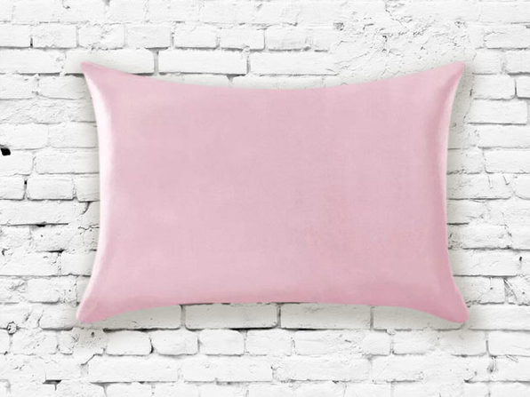 Silk Pillowcase in Pink - Product Image