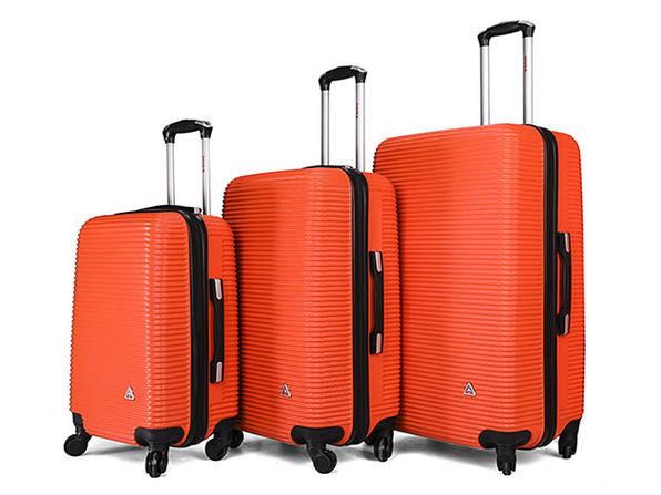 "InUSA Royal Lightweight Hardside 3-Piece Set (20""/24""/28"", Orange)"