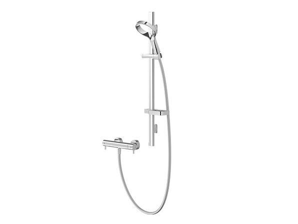 Aio Aurajet Cool Touch Bar Mixer Shower Kit (Chrome)