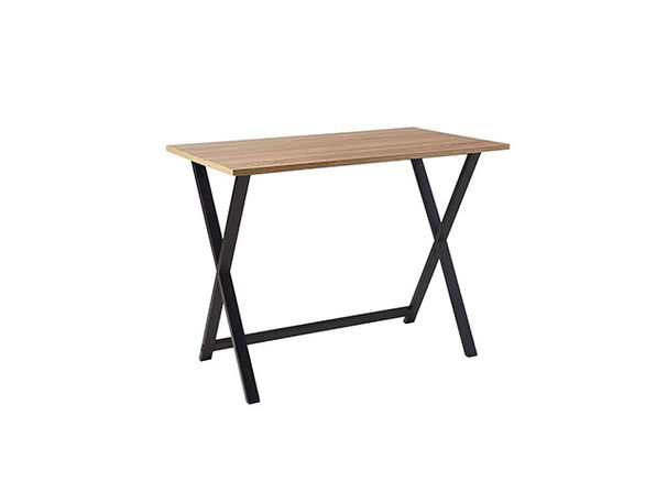 Black Steel Frame Wooden Table Top Desk