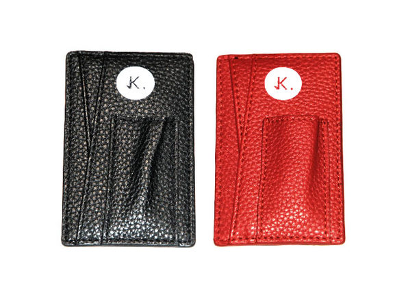 Credit Card Holder: 2-Pack (Danger Black & Magma Red)