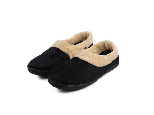 Rechargeable Heated Slippers (Large-XL/Black)