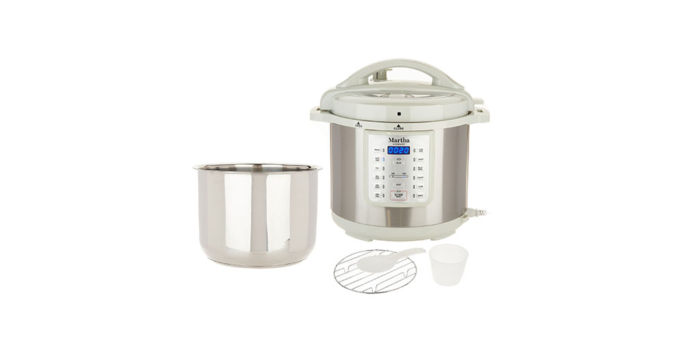 Martha Stewart 8-Qt 7-in-1 Digital Stainless Steel Pressure Cooker, on sale for $64.99 through 9/20
