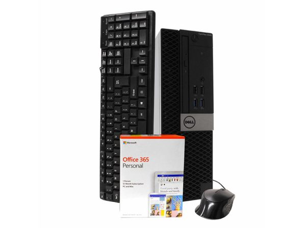 Dell 5040 Desktop PC, Intel i5-6500 3.2GHz, 16GB RAM, New 1TB SSD, Windows 10 Pro, Microsoft Office 365 Personal, New 16GB Flash Drive, DVD-RW, Keyboard, Mouse, WiFi, Bluetooth (Renewed)