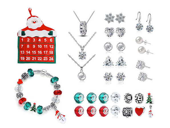 25-Piece Jewelry Advent Calendar with Swarovski Crystals