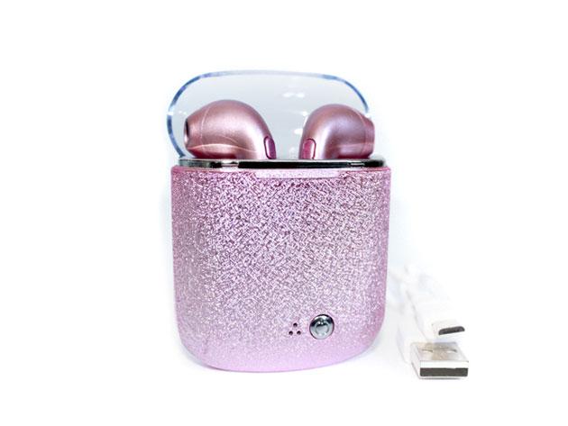 Earbuds case pink - earbuds wireless case