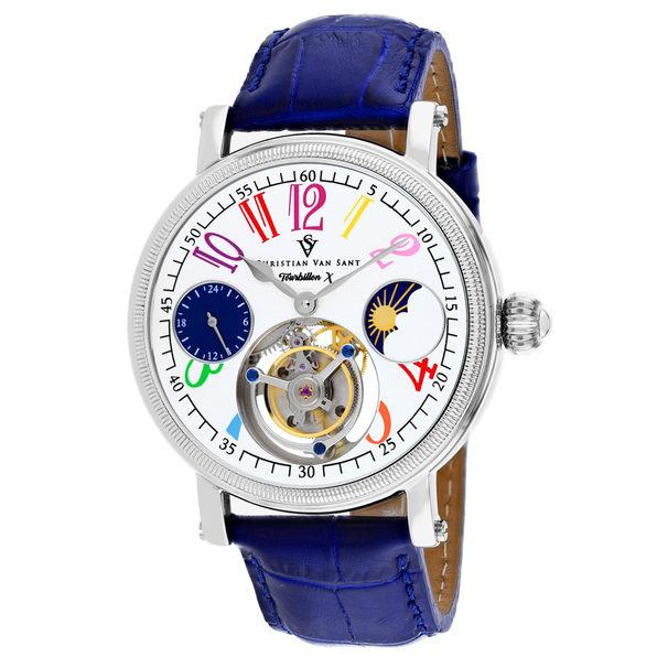 Christian Van Sant Men's Tourbillon X Limited Edition White Dial Watch - CV0991