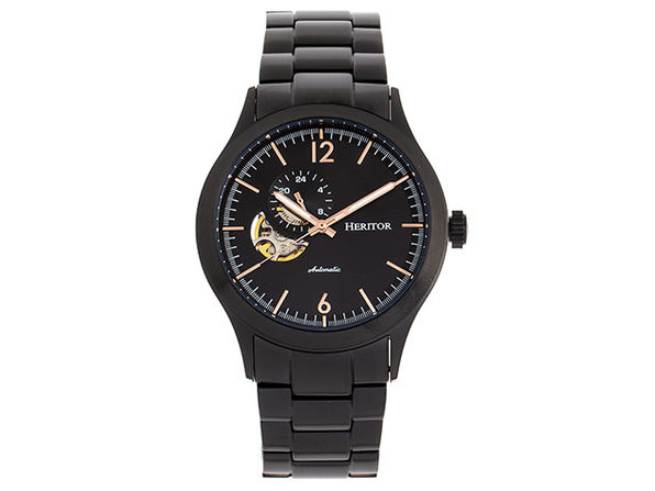 Heritor Automatic Antoine Bracelet Watch (Black)