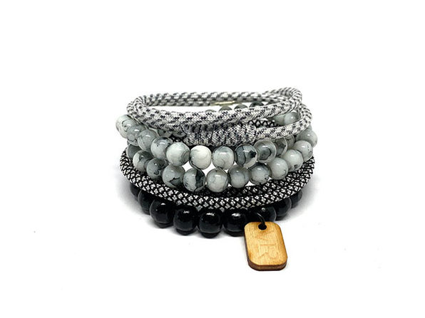 Diamond Variety Bracelets: 4-Pack